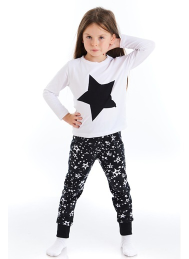 Colorinas Yıldız Desenli Patchli Pijama Takımı İndigo